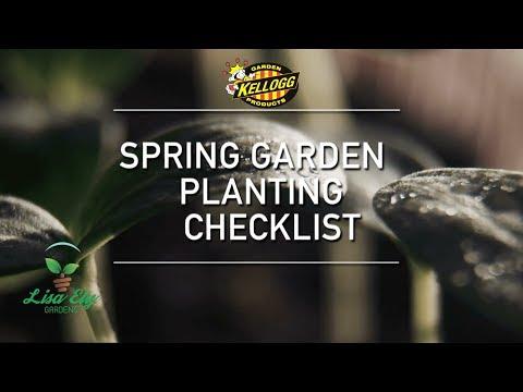 Spring Garden Planting Checklist