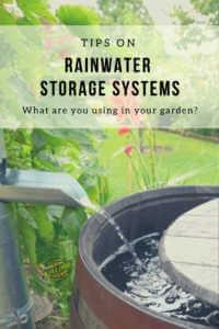 Rainwater storage systems