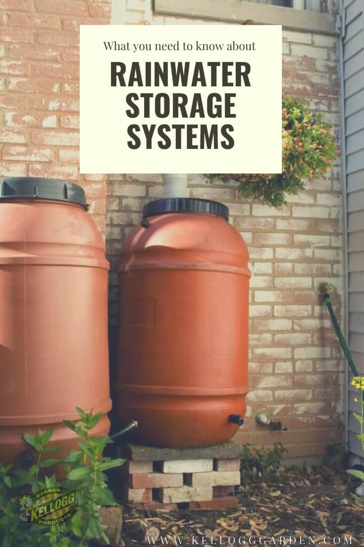 rainwater storage system.
