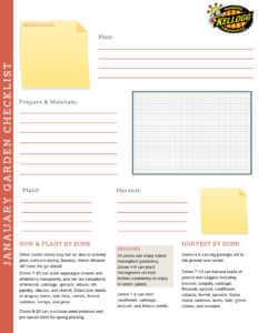 Kellogg Garden Checklist January