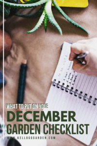 December Garden Checklist