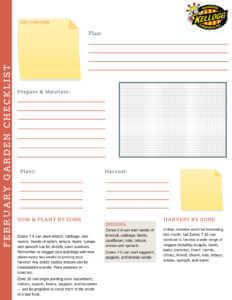 Kellogg Garden Organics February Monthly Garden Checklist.
