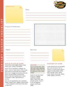 Kellogg Garden Checklist February