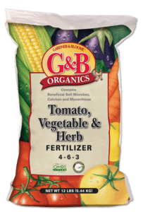 Tomato, veggie and herb fertilizer