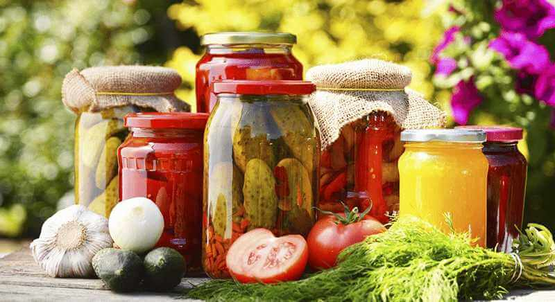 canning and fermenting foods