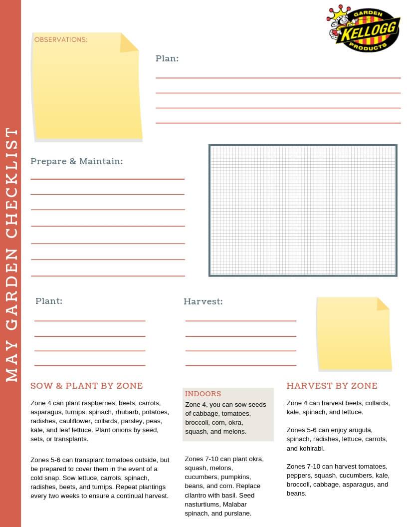 May Garden Checklist Download