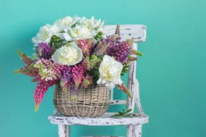 The language of flowers peonies and lupins