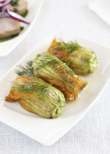 stuffed summer squash blossoms