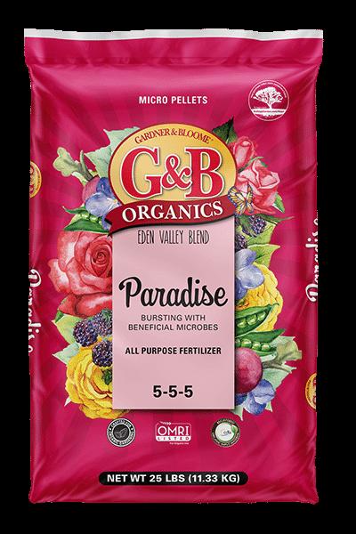 G&B ORGANICS EDEN VALLEY BLEND PARADISE ALL PURPOSE