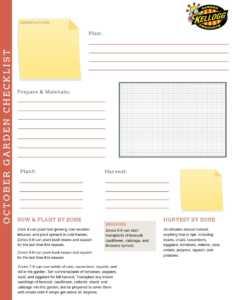 october checklist pdf
