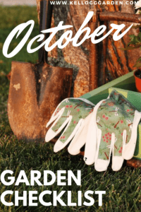 October Garden Checklist Pin