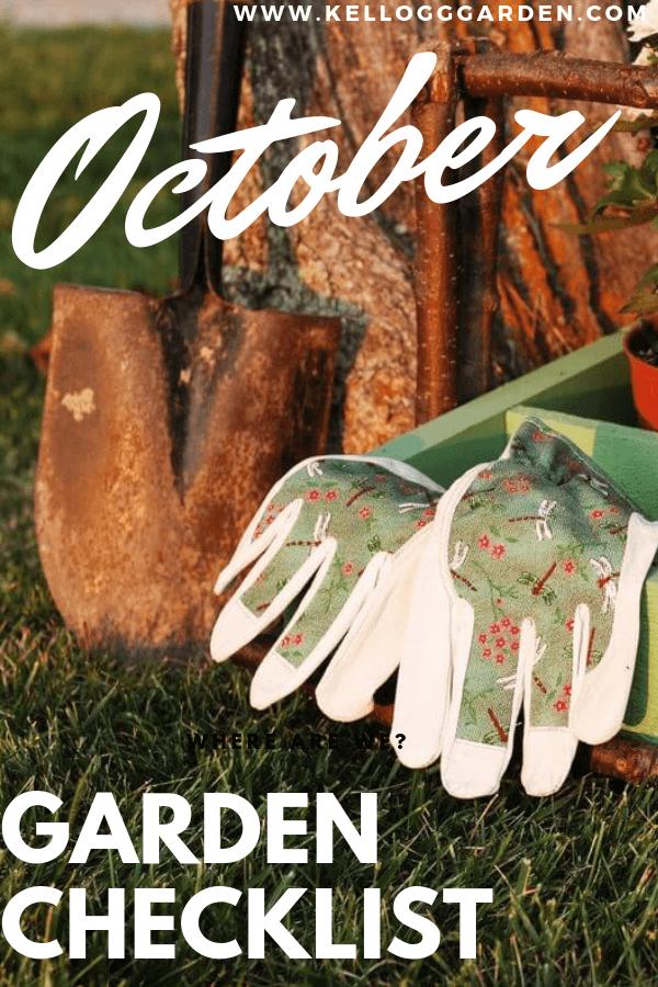 October Garden Checklist Pin