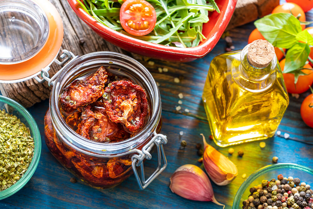 Dried Dehydrated tomatoes in oil