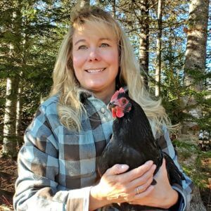 Lisa Steele and Chicken