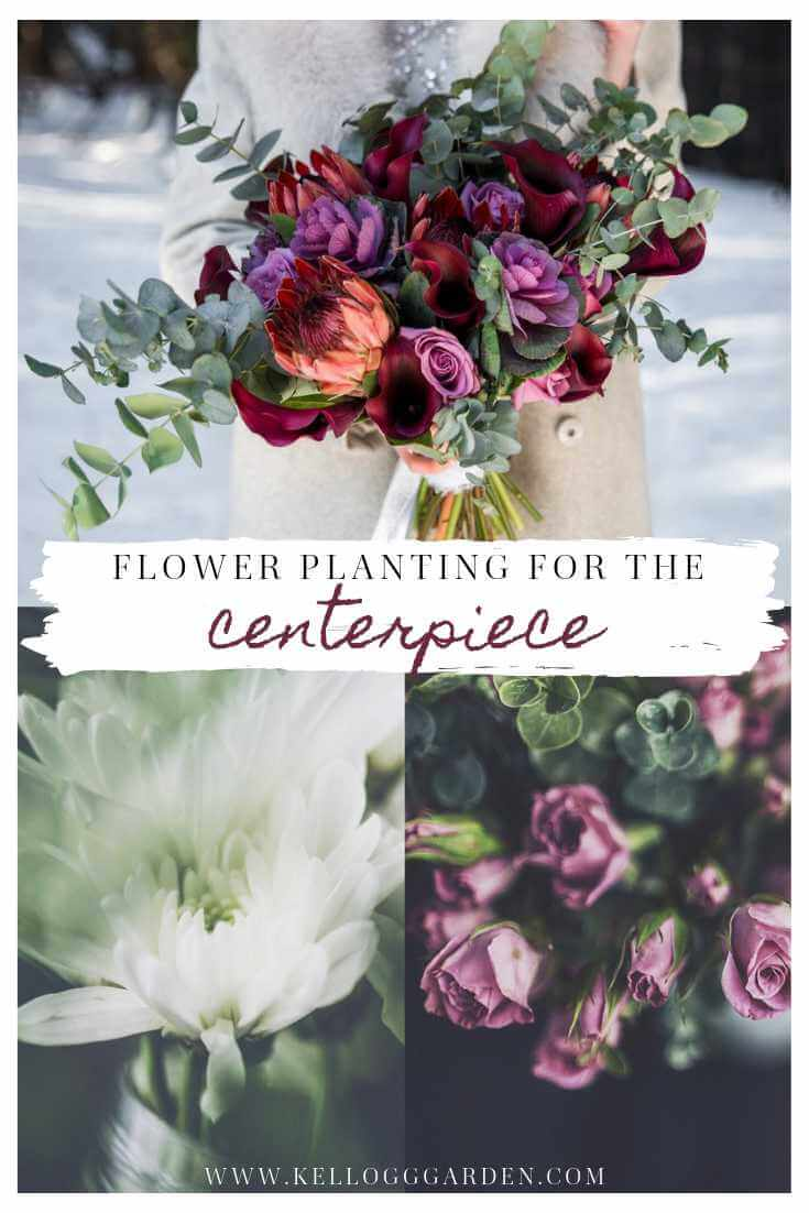 Flower planting for the centerpiece Pin