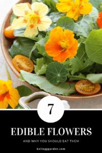 Edible flowers pin