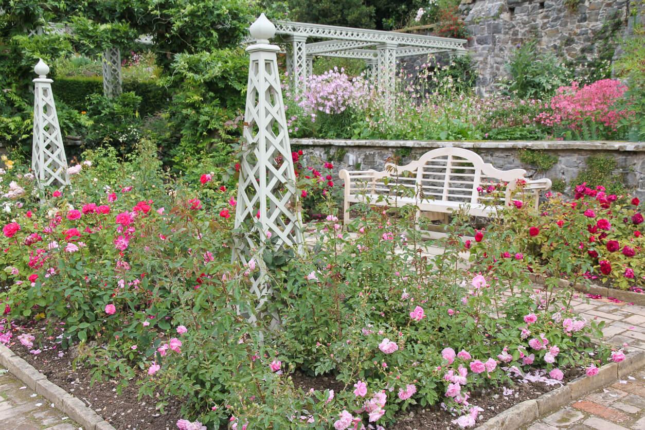 Obelisk in a garden