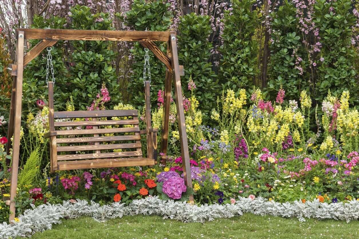 flower garden seat