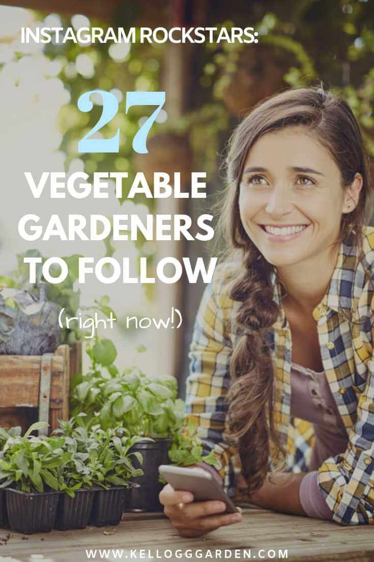 27 Veggie Gardeners to Follow Pin