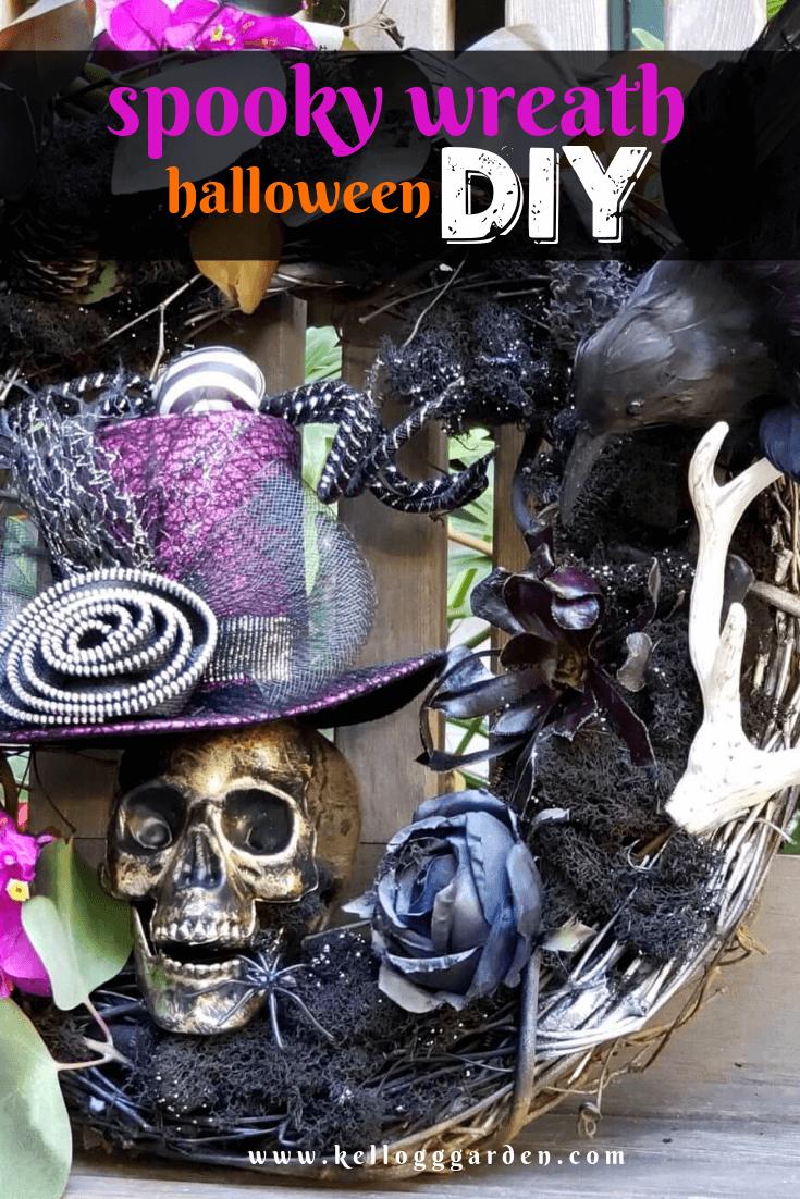 Spooky wreath diy pin