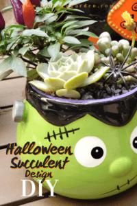 Halloween succulent design pin