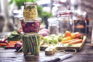 Preserving harvest in jars