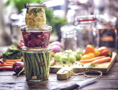 Preserving harvest in jars