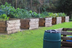 Raised Beds with Stored Soil