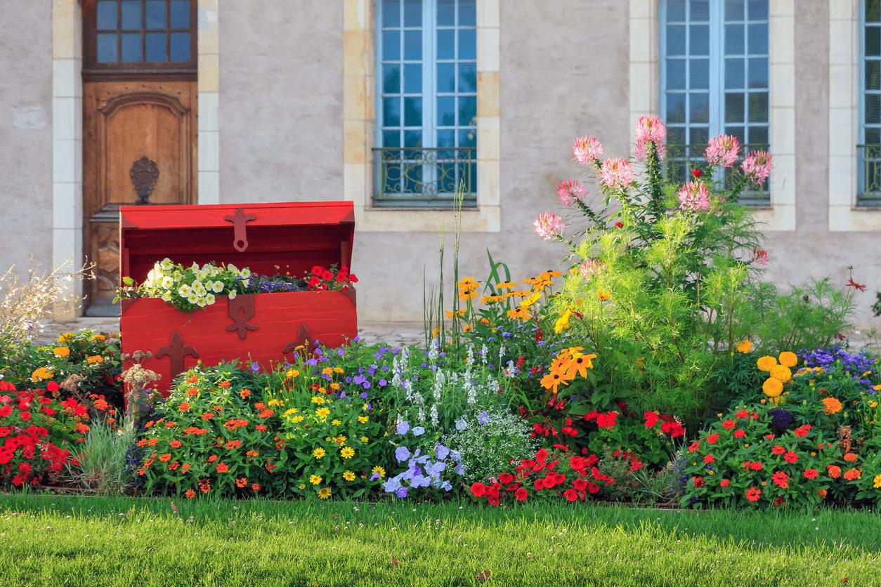 Flower Garden Landscape