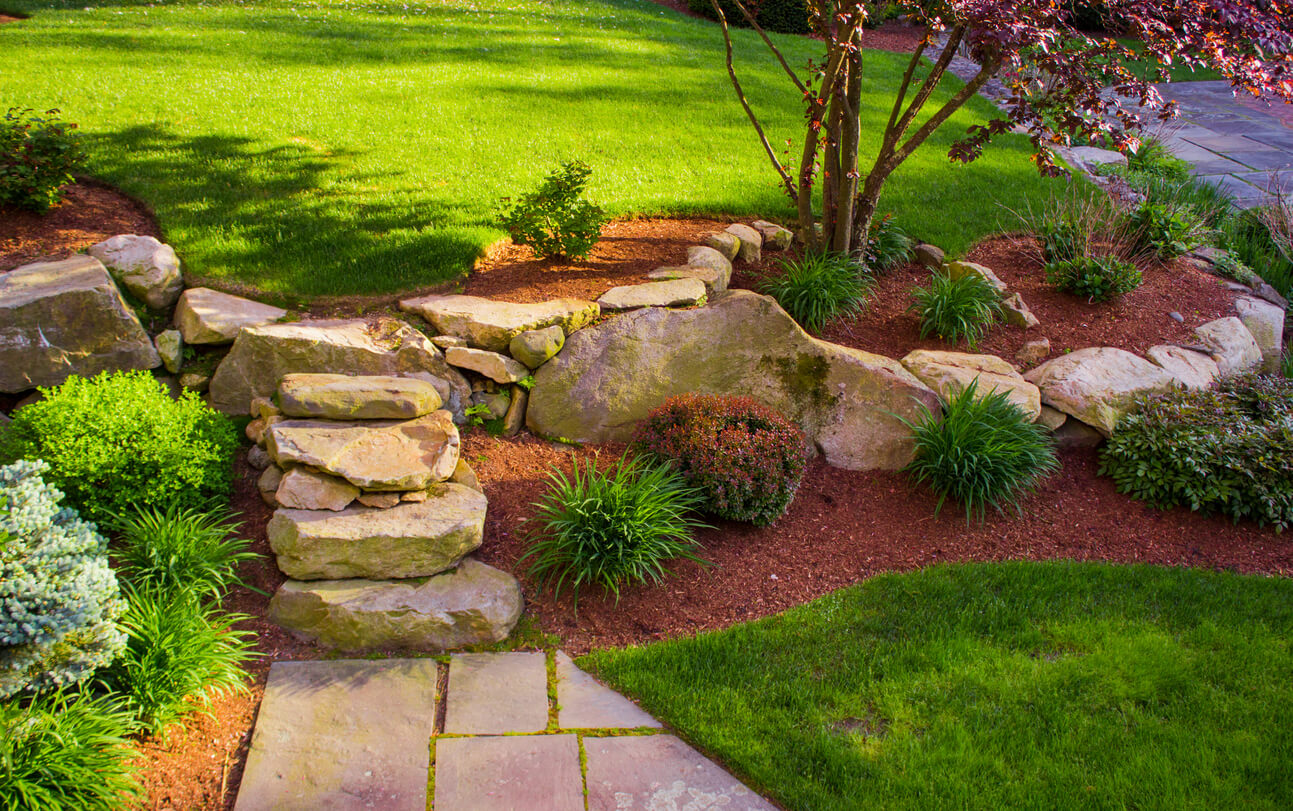 Landscaping rock wall tier