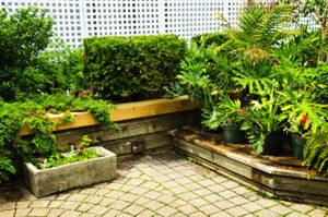 Tiered green garden