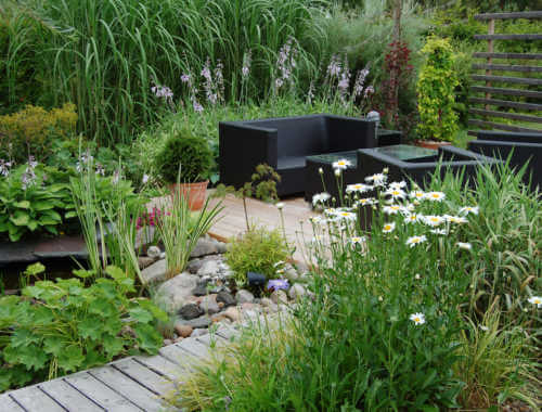 Landscape design outdoor area