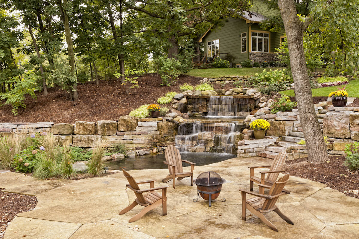landscape design outdoor seating