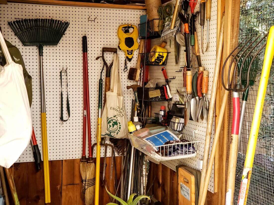 tools in shed