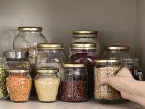 seeds on shelf