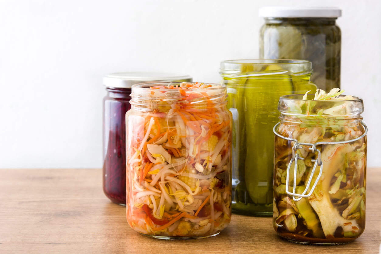 Foods fermented in jars