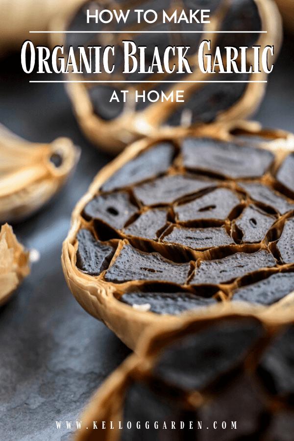 Black garlic halved