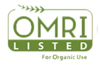 OMRI Listed for Organic Use Seal