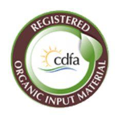 Regitered Organic Input Material certified CDFA