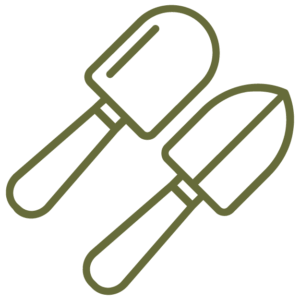 small garden trowels icon