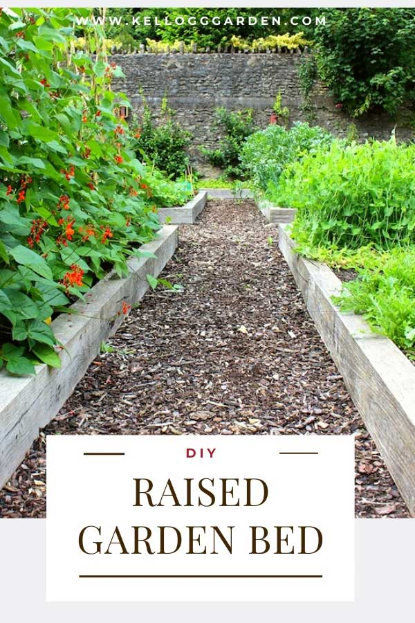 Raised Garden Bed text and image