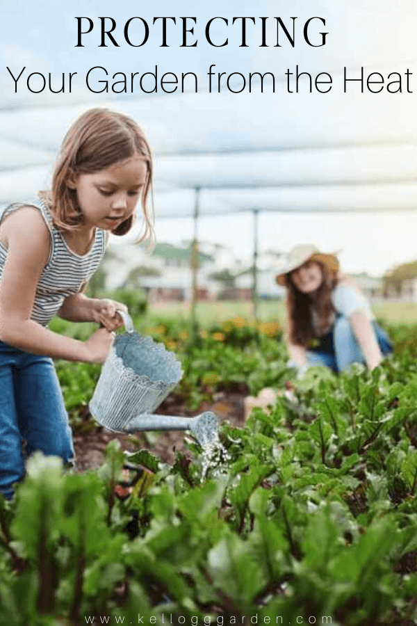daughter helping out mom by watering plants pinterest image