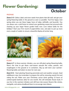 Flower Guide October Page