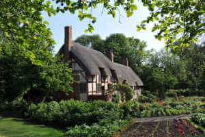 """""""Anne Hathaway's Cottage is the 15th century former home of Anne Hathaway, the wife of William Shakespeare. The house is situated in village of Shottery, Warwickshire, England."""