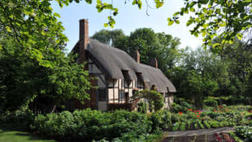"""Anne Hathaway's Cottage is the 15th century former home of Anne Hathaway, the wife of William Shakespeare. The house is situated in village of Shottery, Warwickshire, England."