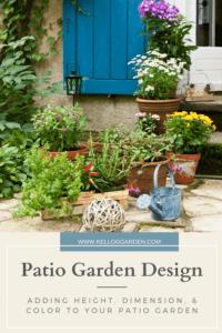 multiple plants in pots on stone patio flooring