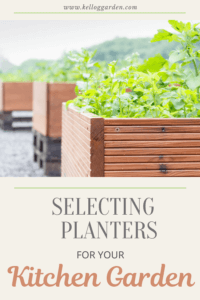 Wooden planted raised beds