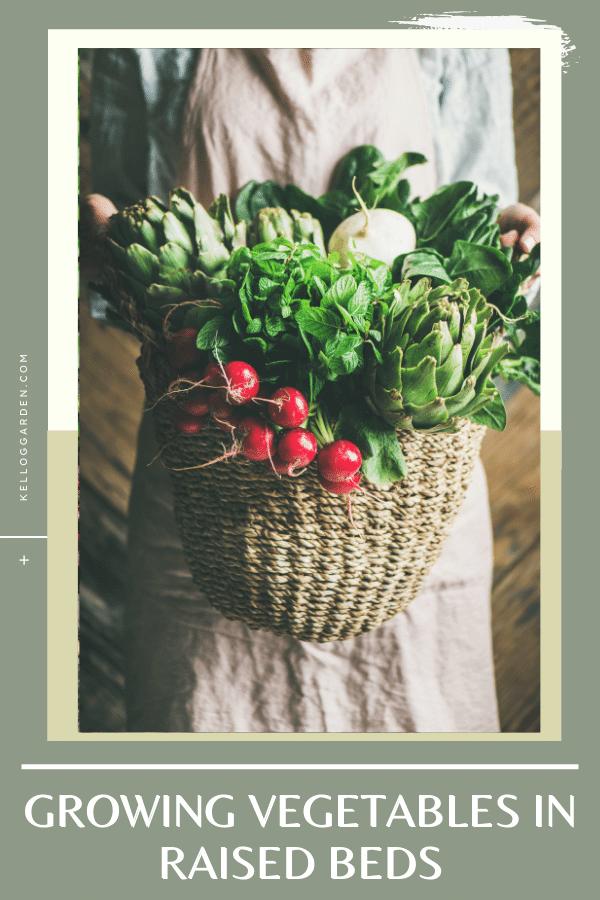 woven basket full of vegetables.