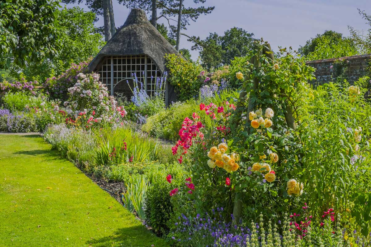 an old walled garden in a country house