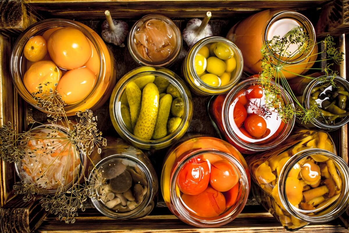 Various pickled vegetables